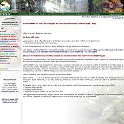 Sites classés ou inscrits protégés au titre des Monuments historiques (MH)
