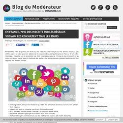 En France, 70% des inscrits sur les réseaux sociaux les consultent tous les jours - Blog du Modérateur