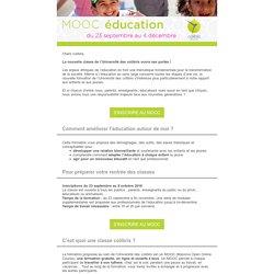 Inscrivez-vous au MOOC Éducation de Colibris !