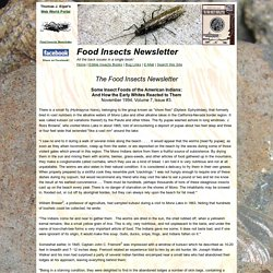 FINL Vol. 7, No. 3 Insect Foods of the American Indians