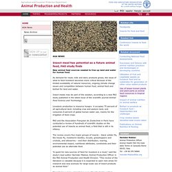 FAO 21/10/14 Insect meal has potential as a future animal feed, FAO study finds