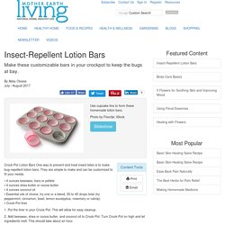Insect-Repellent Lotion Bars