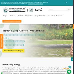Insect Sting Allergy Treatment l IAFA for Allergy