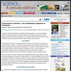 """Insecticides et abeilles : une cohabitation exigeante et nécessaire - Dossier """"Agriculture, pesticides et biodiversité"""""""