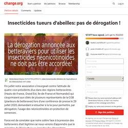 Insecticides tueurs d'abeilles: pas de dérogation !