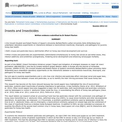 PARLIAMENT_UK 30/10/12 AUDIT REPORT - Insects and Insecticides