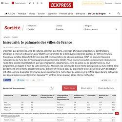 Insécurité: le palmarès des villes de France