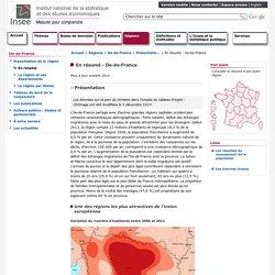 Insee Ile-de-France - En résumé - Ile-de-France