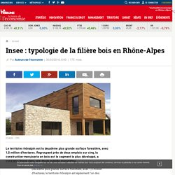 Insee: typologie de la filière bois en Rhône-Alpes