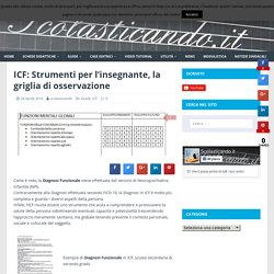 ICF: Strumenti per l'insegnante, la griglia di osservazione
