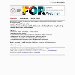 Insegnare per competenze: la sfida del compito autentico. (Webinar in replica live)