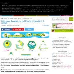 Insegnare la gestione del tempo ai bambini: il meteo