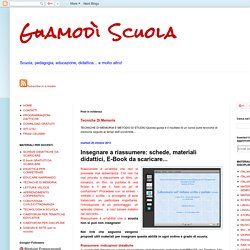 Guamodì Scuola: Insegnare a riassumere: schede, materiali didattici, E-Book da scaricare...