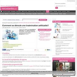 comment se déroule une insémination artificielle? - Insémination artificielle