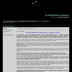 SCN9A : INSENSIBILITE héréditaire à la douleur - Le Petit Monde d'Audrey