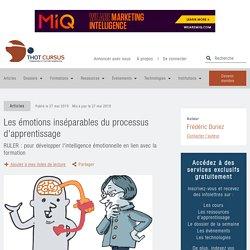Les émotions inséparables du processus d'apprentissage - Thot Cursus