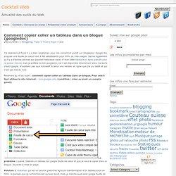 insérer feuille de calcul google document dans un blog