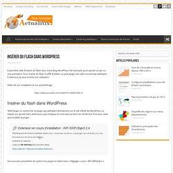 Insérer du flash dans Wordpress