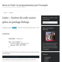 Latex - Insérer du code source grâce au package listings