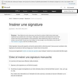 Insérer une signature