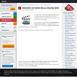 Inserire un video nella pagina web