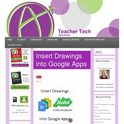 Insert Drawings into Google Apps - Teacher Tech
