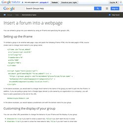 Google sites googleworld pearltrees for Embed a forum into your website