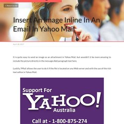 Insert An Image Inline In An Email In Yahoo Mail