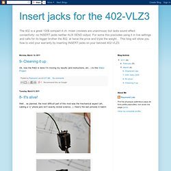 Insert jacks for the 402-VLZ3