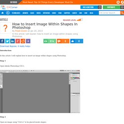 How to Insert Image Within Shapes In Photoshop