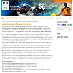Insertion sociale et d'éducation par le sport - Sport et développement durable