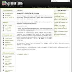 insertion flash dans joomla