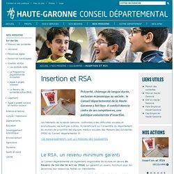 Département de la Haute-Garonne - Insertion et RSA