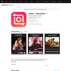 InShot - Video Editor on the AppStore