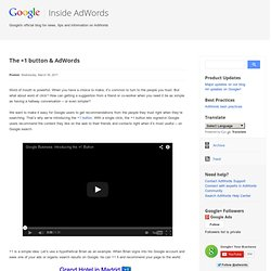 The +1 button & AdWords