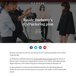 Inside Burberry's restructuring plan