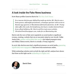 A look inside the Fake News business - The Life and Times of David Chen