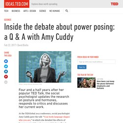 Inside the debate about power posing: a Q & A with Amy Cuddy