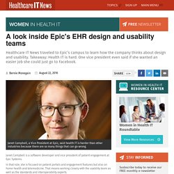 A look inside Epic's EHR design and usability teams