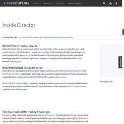 Inside Director Definition