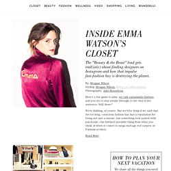 Inside Emma Watson's Closet