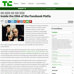 Inside the DNA of the Facebook Mafia