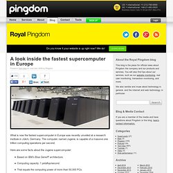 Royal Pingdom » A look inside the fastest supercomputer in Europe