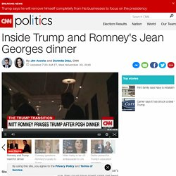 Inside Trump and Romney's Jean Georges dinner