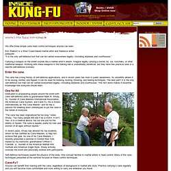 Inside Kung-Fu Magazine - Cane-Fu Gets A-Head