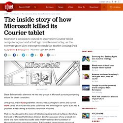 The inside story of how Microsoft killed its Courier tablet | Microsoft
