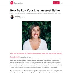 How To Run Your Life Inside of Notion - Superorganizers