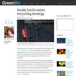 Inside Levi's water recycling strategy