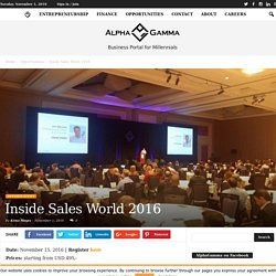 Inside Sales World 2016