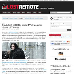 Inside look at HBO's social TV strategy for 'Game of Thrones'